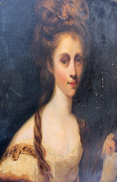 Joshua REYNOLDS (1723-1792), dans le goût de  Fin XVIII ème, début XIX ème  Portrait...