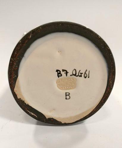 Roger Capron (1922 - 2006)  Alcohol bottle - Circa 1960  Glazed ceramic.  Stamp...