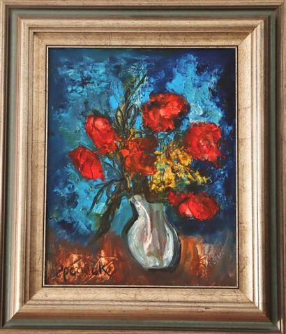 Paul PERMEKE (1918-1990)  Bouquet de fleurs...