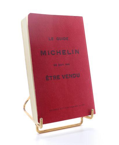 """Guide Michelin """"Offert gracieusement aux chauffeurs""""  Couverture souple en percaline..."""