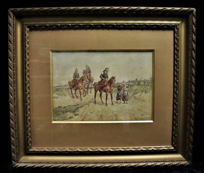 Orlando NORIE (1832-1901)  Cuirassiers à...