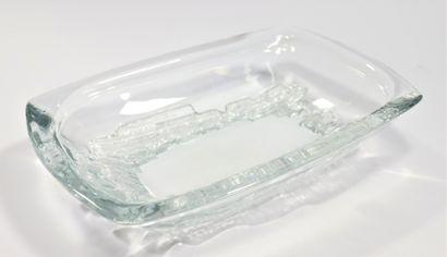 DAUM  Coupe rectangulaire en verre/cristal...