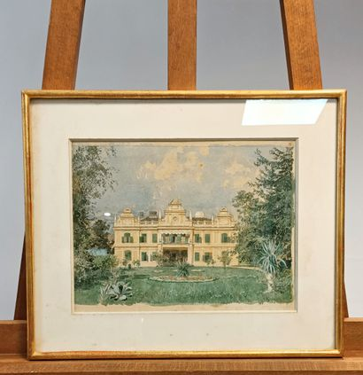 Franz KOPALLIK (1860 - 1931) Vue de villa...