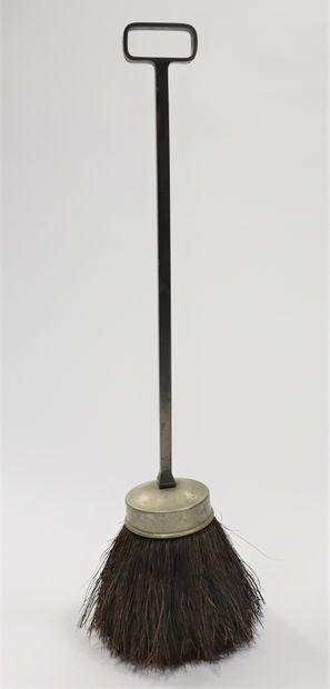 Serviteur de cheminée comprenant pelle, pince, soufflet, tisonnier et brosse  Style...
