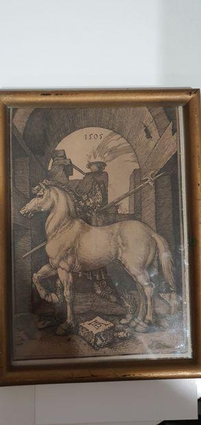 D'après Dürer  Le petit cheval  Gravure  XIX...