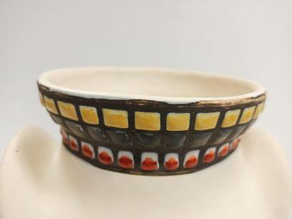 """Roger Capron (1922-2006)  Vase dit """"à oreilles"""" - Circa 1960  Céramique émaillée...."""