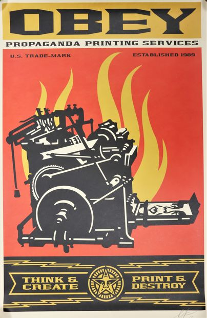Shepard FAIREY, OBEY (1970-)  Propaganda...