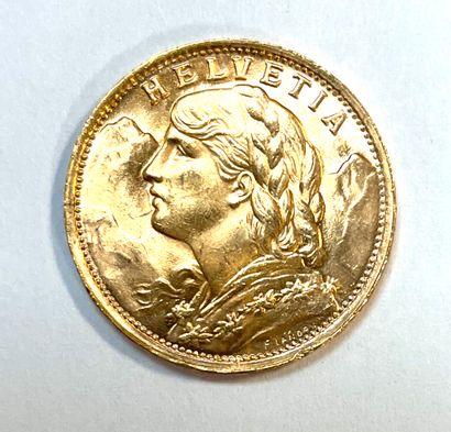 Suisse - Hélvétia  Une Monnaie de 20 Francs...