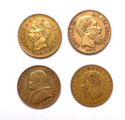 Monde - Divers  Lot de quatre monnaies de...