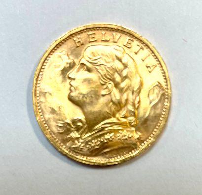 Suisse - Helvétia  Une monnaie de 20 Francs...
