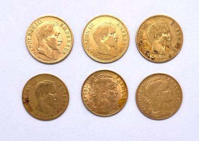 France - Divers  Lot de six monnaies de 10...