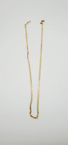 Chaîne de cou en or jaune 18k (750 millièmes)...