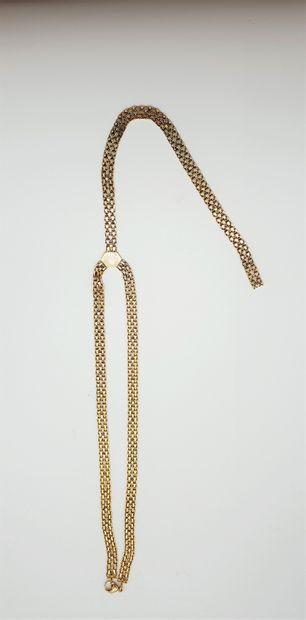 Collier cravate en or jaune 18k (750 millièmes)...