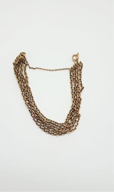 Bracelet en or 18k (75O millièmes) formé...