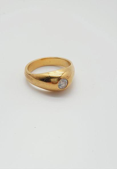 Bague jonc en alliage d'or 14k (585 millièmes)...