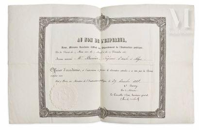 Ordre des Palmes académiques.