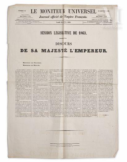 Napoléon III, empereur des Français.