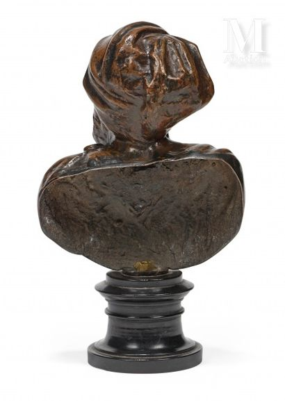 Bust portrait of Titian  Bronze proof with brown patina  Italy, Venice, end of the...