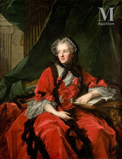 FRENCH SCHOOL circa 1800, after Jean - Marc NATTIER  Marie Leszczynska, Queen of...