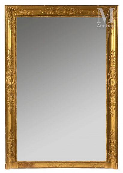 Trumeau ou miroir de cheminée inscrit dans...