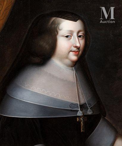École FRANÇAISE vers 1680, suiveur de Charles BEAUBRUN Portrait of Anne of Austria...