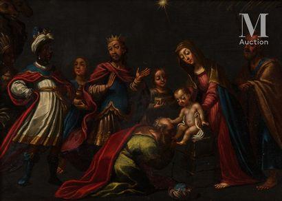 17th century VERONA school, entourage of Pasquale OTTINO  The Adoration of the Magi...