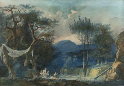 Pierre-Antoine MONGIN (1761-1827)  Baigneuses....