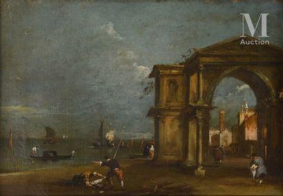 Ecole VENITIENNE du XVIIIème siècle, entourage de Francesco GUARDI
