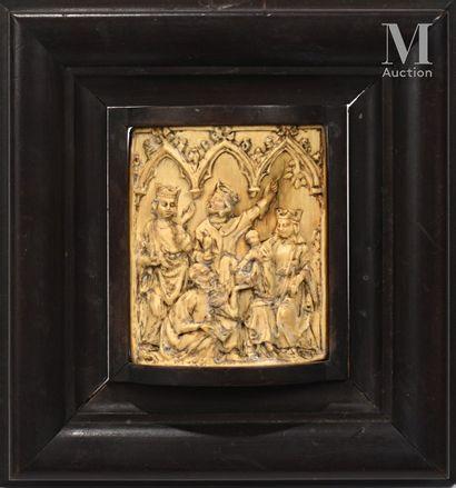 L'Adoration des Rois Mages  Relief en ivoire...