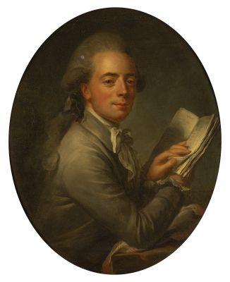 FRENCH SCHOOL circa 1780, entourage of Antoine VESTIER  Portrait of the Count de...