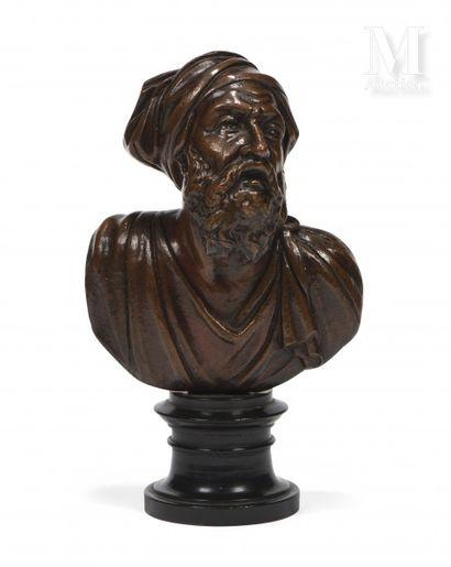 Portrait en buste de Titien  Epreuve en bronze...
