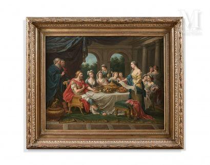 Ecole FRANCAISE vers 1780, atelier de Louis Jean François LAGRENEE dit l'aîné Mithridate...
