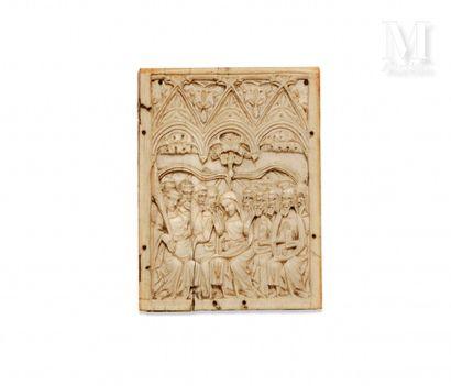 Plaquette en ivoire sculptée