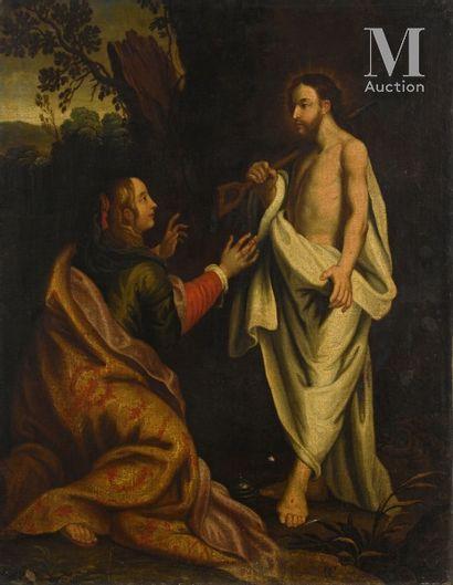 Ecole ANVERSOISE vers 1650, d'après Gérard SEGHERS Le Christ jardinier apparaissant...
