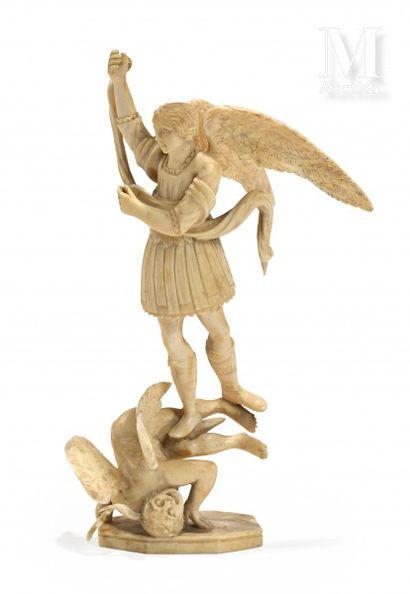 L'Archange Saint Michel terrassant le dragon...