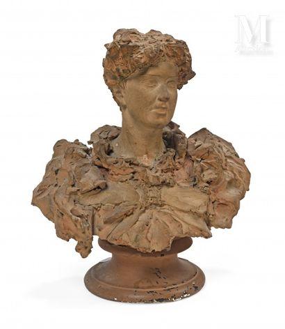 Italio CAMPAGNOLI (1859-?)  Portrait de femme...