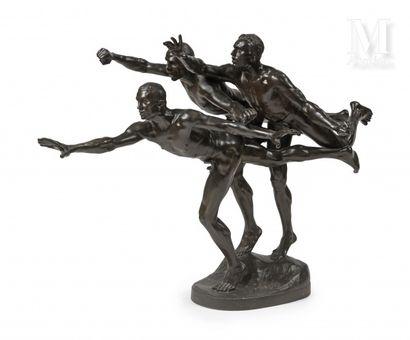 Alfred BOUCHER (1850-1934)  Les coureurs...