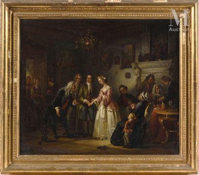 Ecole ANGLAISE du XIXème siècle, dans le goût de William HOGARTH