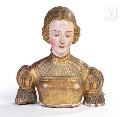 Buste de sainte-femme formant reliquaire...