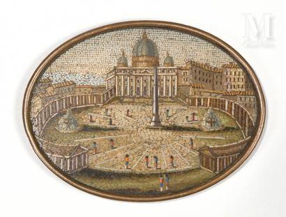La Place Saint-Pierre de Rome  Petite plaque...