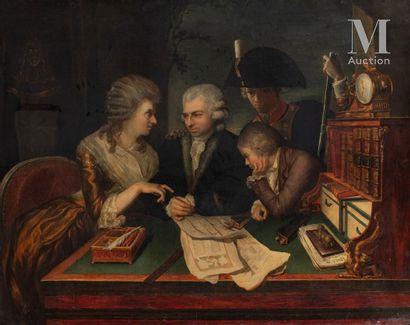 ATTRIBUÉ À SCOTT PIERRE NICOLAS LEGRAND DE LERANT (1758 - 1829)
