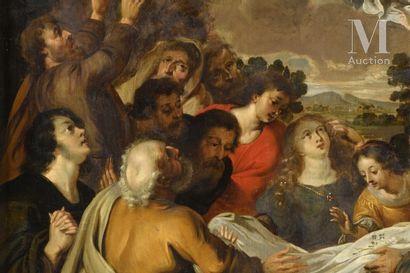 Cornelis SCHUT (Anvers 1597 – 1655) L'Assomption de la Vierge  Panneau de chêne parqueté...