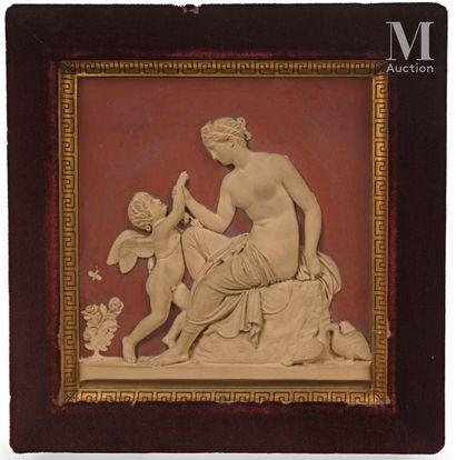 P IPSEN  Vénus réprimandant l'Amour  Relief...