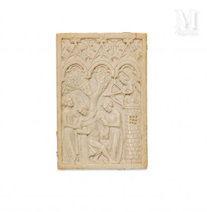 Plaquette en ivoire sculptée en bas-relief