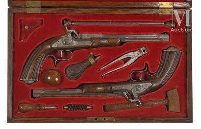 Paire de pistolets duel de type Lepage, à...