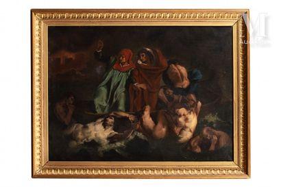 Ecole FRANCAISE du XIXème siècle, d'après Eugène Delacroix