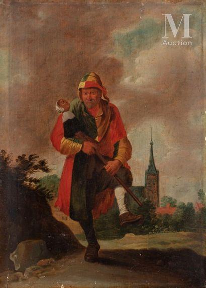 Ecole FLAMANDE 1732, dans le goût de David TENIERS