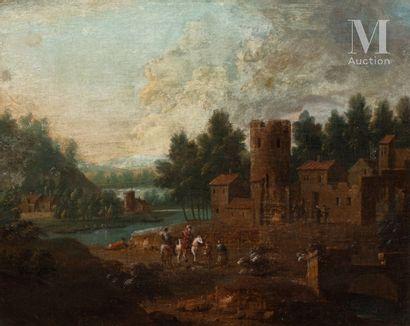 Ecole FLAMANDE du XVIIIème siècle, suiveur de Mathias SCHOVAERTS
