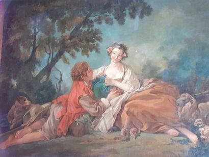 Ecole Francaise du XVIIIe siècle, dans le...