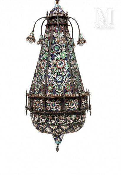 Importante lampe de Damas